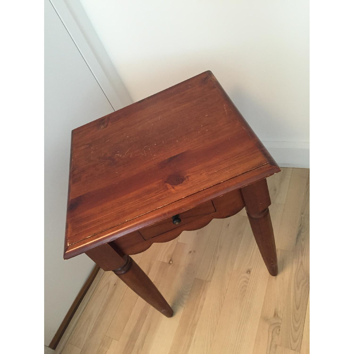 Pier 1 Wood Side Table-1