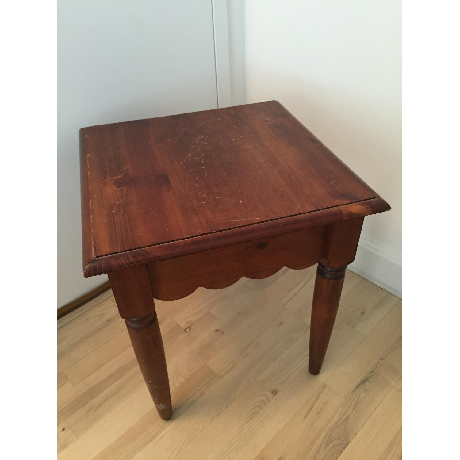 Pier 1 Wood Side Table-3