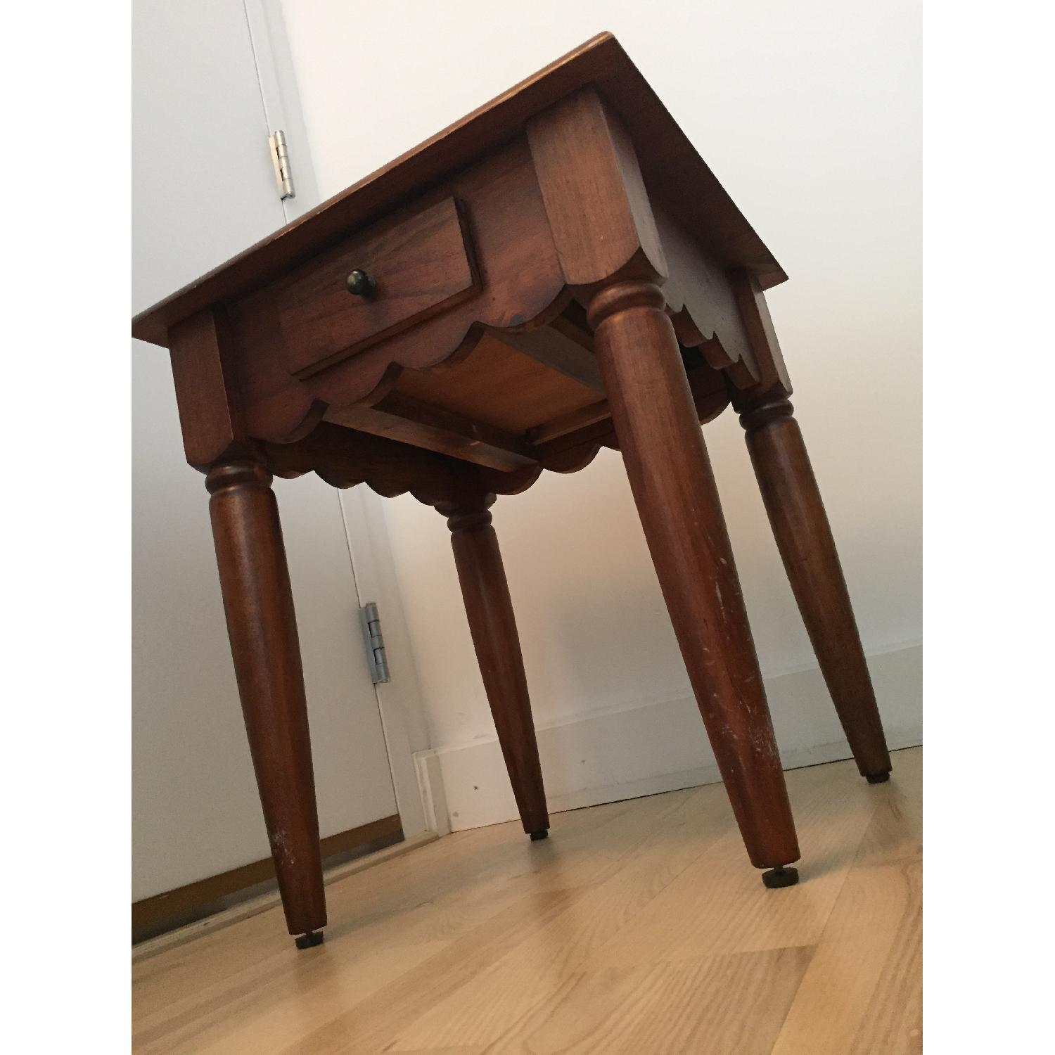 Pier 1 Wood Side Table-5