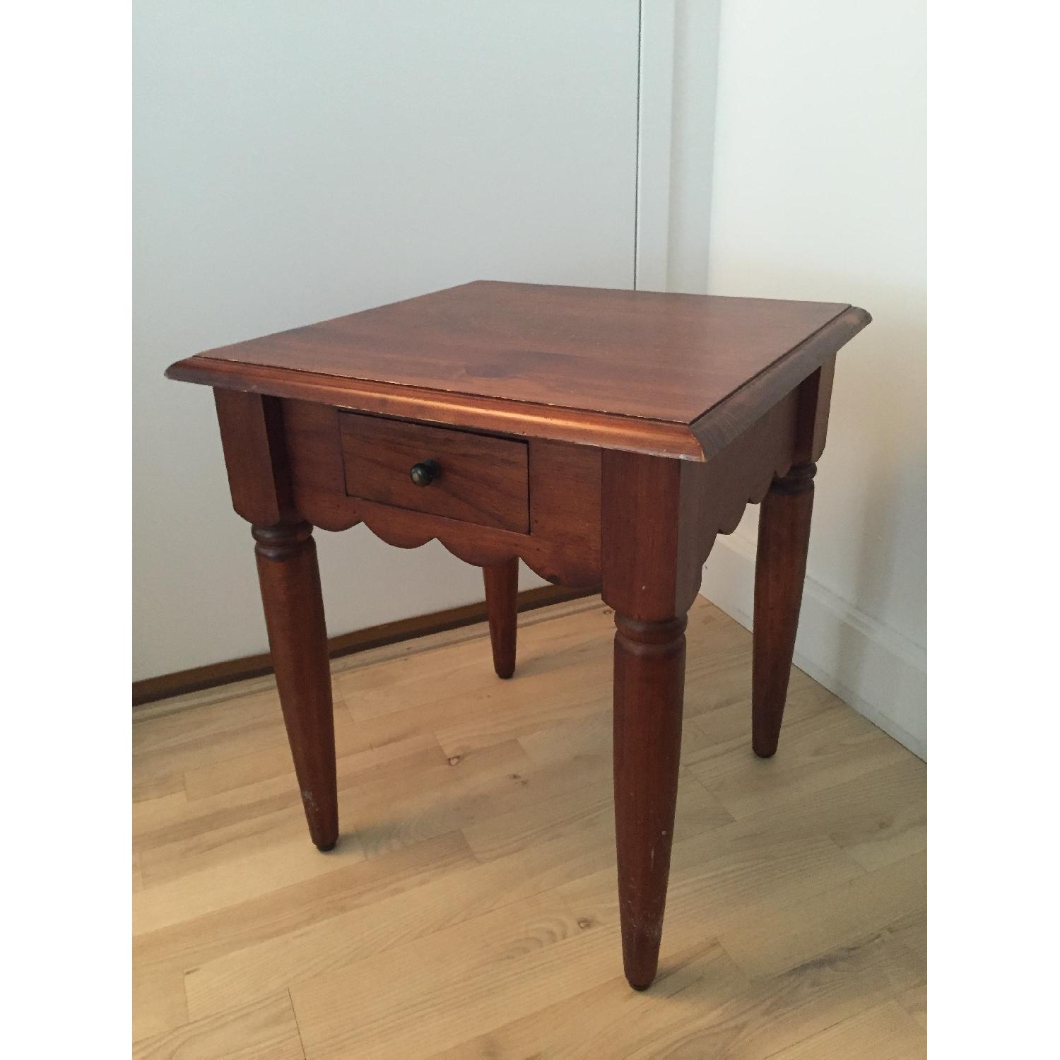 Pier 1 Wood Side Table-6