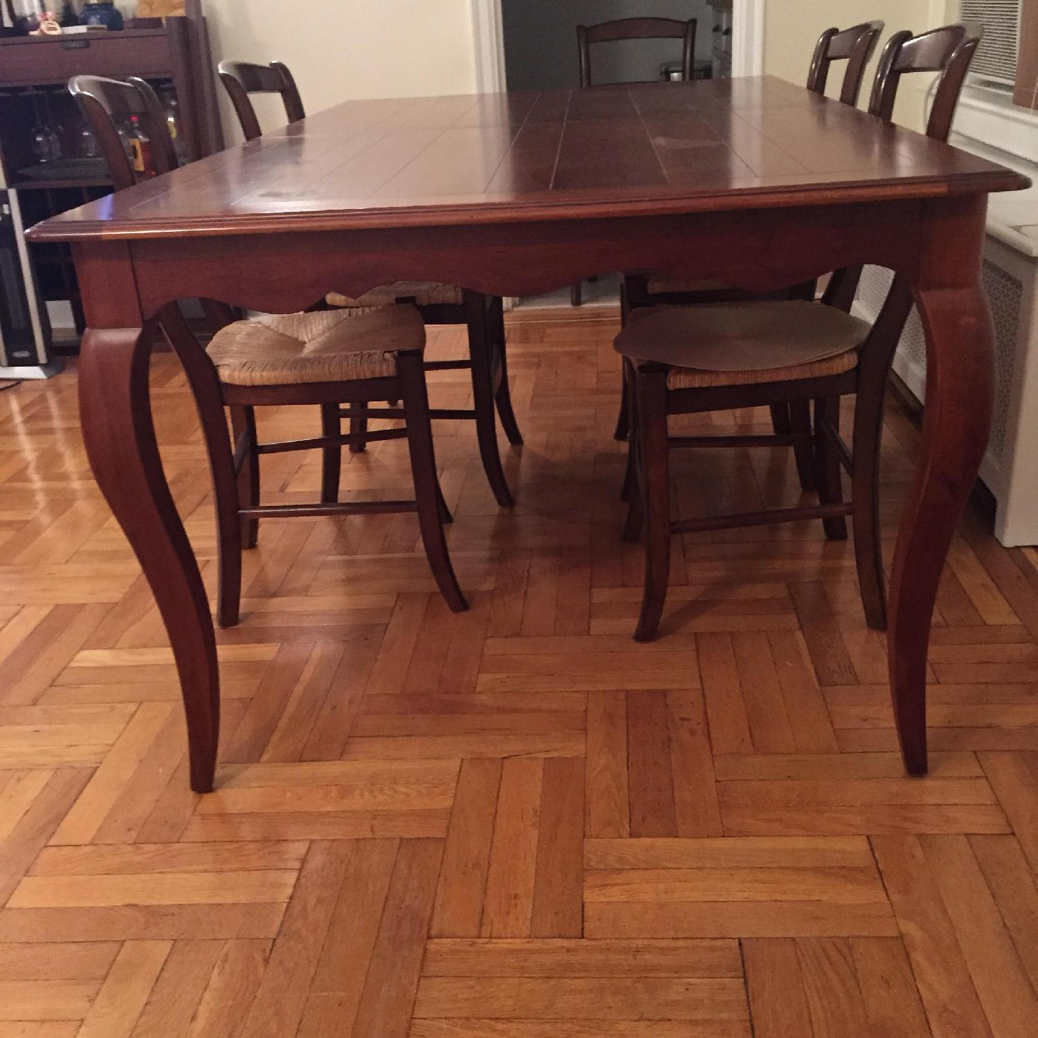 Ethan Allen Expandable Dining Table-0