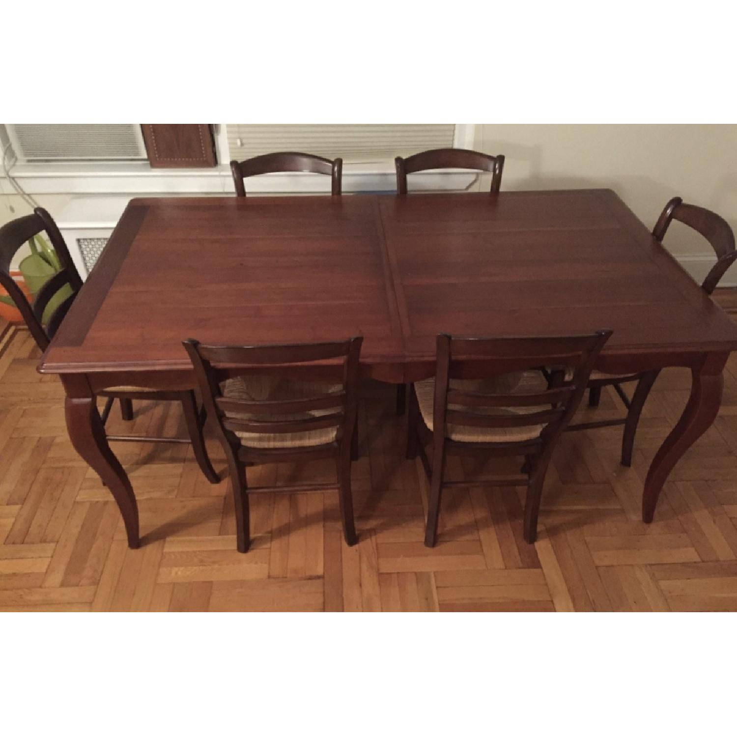 Ethan Allen Expandable Dining Table-2