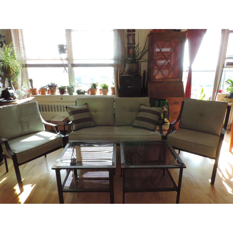 Martha Stewart 5 Piece Patio Furniture Set Aptdeco