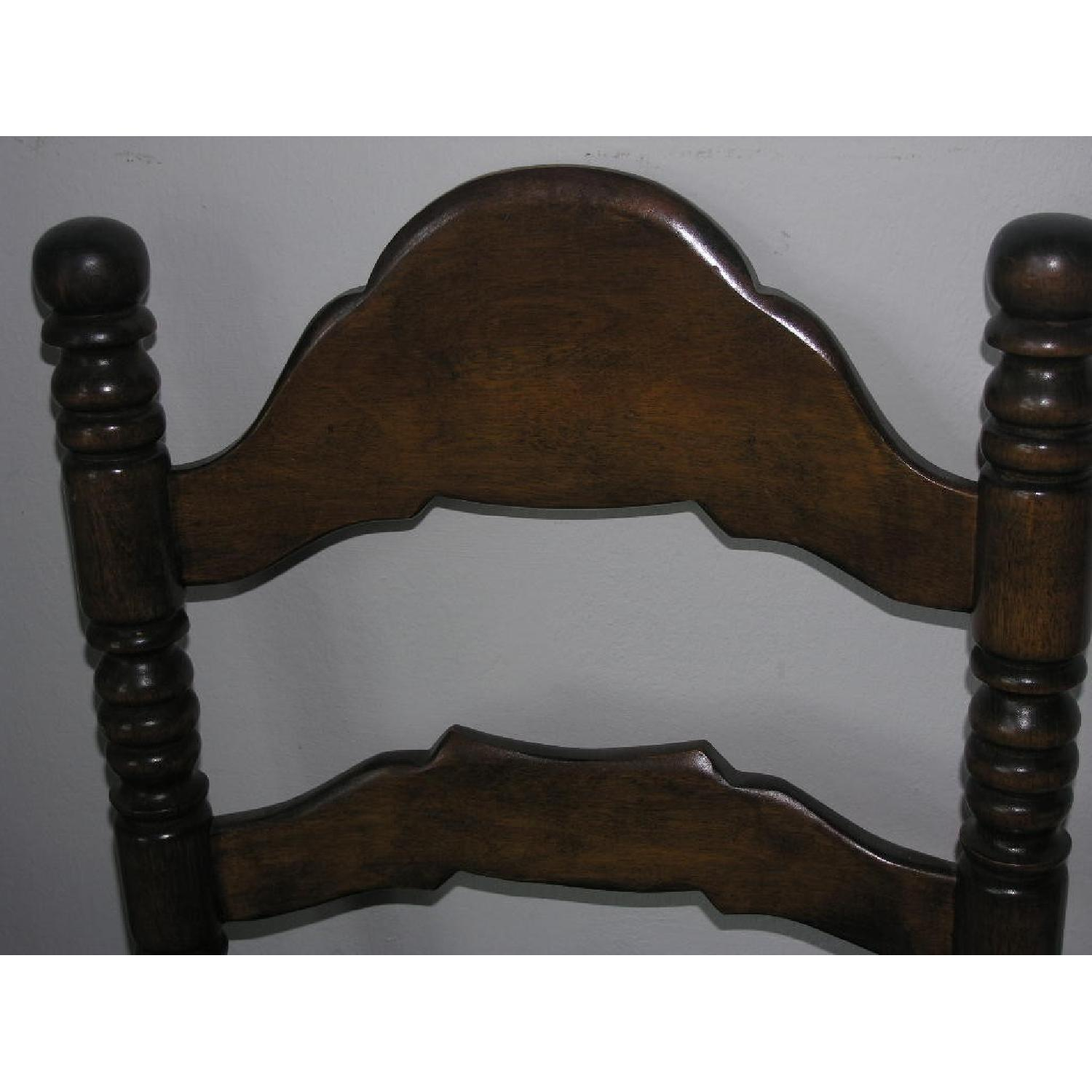 Ethan Allen Vintage Ladderback Rush Seat Chairs Set Of