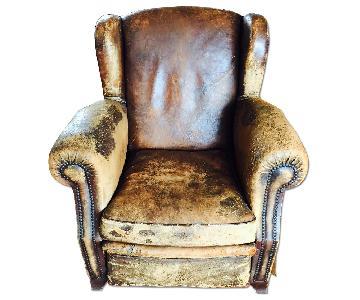 ABC Carpet & Home Leather Club Chair