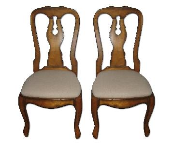 Pottery Barn Wooden Accent/Dining Chairs - Pair