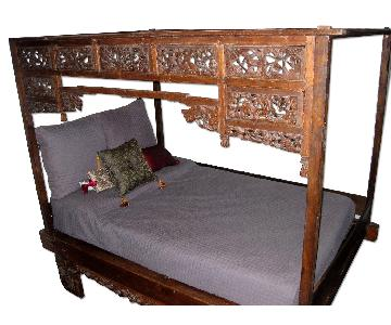Mohr & McPherson Vintage Indonesian Canopy Bed