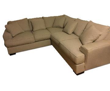Beige L-Shaped Sectional Sofa