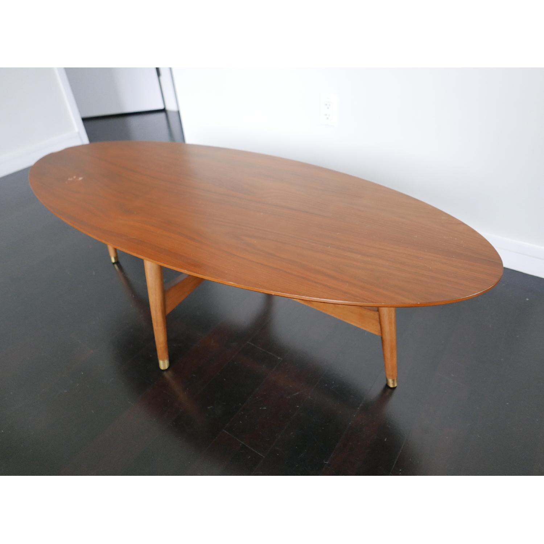 West Elm Reeve Mid-Century Oval Coffee Table in Pecan-2