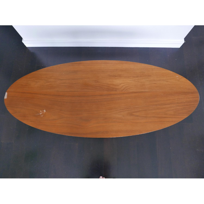 West Elm Reeve Mid-Century Oval Coffee Table in Pecan-4