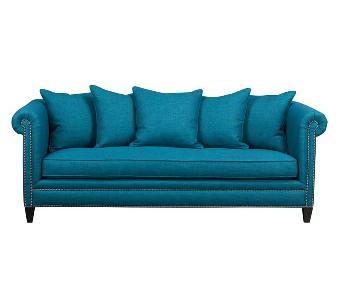 Crate & Barrel Tailor Sofa in Peacock
