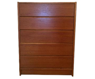 Brown 5 Drawer Dresser