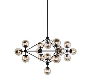 Design Within Reach Modo 4 Sided Chandelier w/ 15 Globes