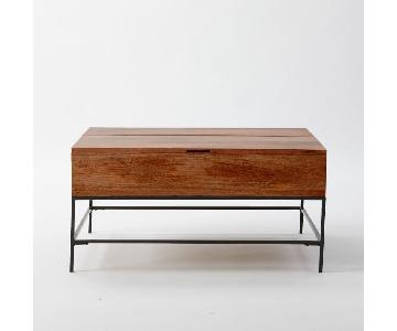 West Elm Industrial Storage Coffee Table