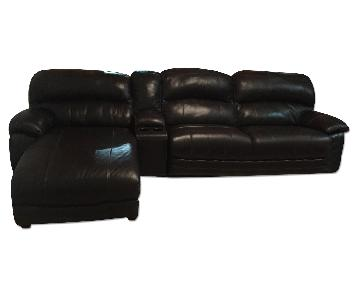 Ashley's Damacio 3 Piece Power Recliner Sectional w/ Chaise