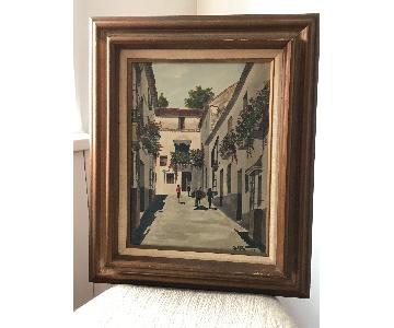 Signed Framed 1966 Marbella Watercolor