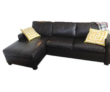West Elm Henry Leather Sectional