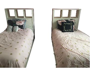 Pottery Barn Children's Twin Storage Beds w/ Storage Headboa