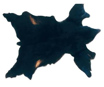 Custom Black Bear Fur Rug