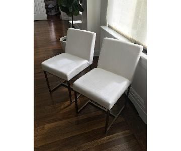 Restoration Hardware Modern Emery Fabric Side Chairs