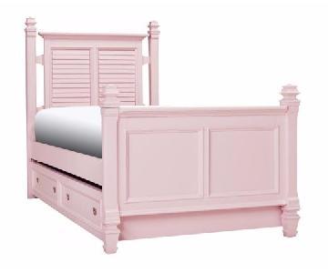 Raymour & Flanigan Varsity Kids Pink Full Post Bed Frame