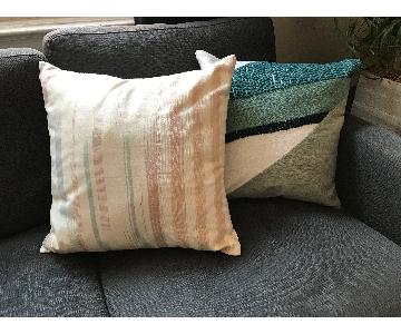 West Elm Crewel Pastel Pillows