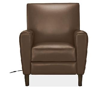 Room & Board Harper Brown Leather Recliner
