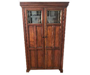 Cherry Wood Credenza/China Cabinet