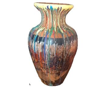 Hand Painted Large Terracotta Clay Pot Planter