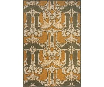 Momeni Art Nouveau Collection Rug in Sage