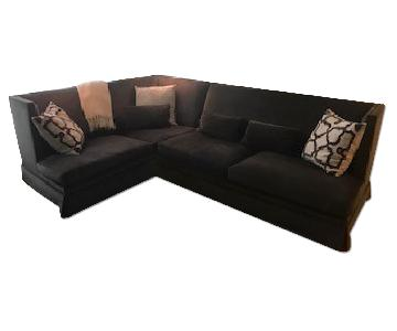 2-Piece Sectional Sofa in Charcoal
