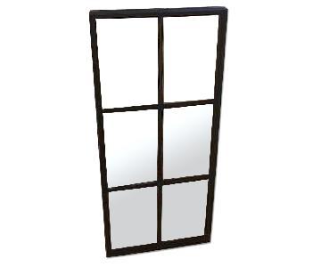 Black Window Pane Mirror