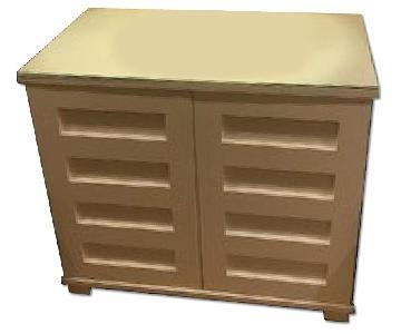 White Cabinet w/ Storage