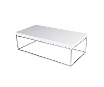 Pangaea Home & Garden White Lacquer Coffee Table