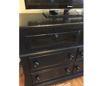 Havertys Wood Black TV Console
