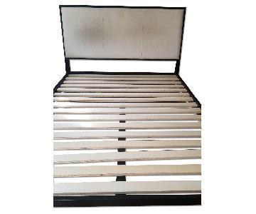 Crate & Barrel Sierra Upholstered Full Bed