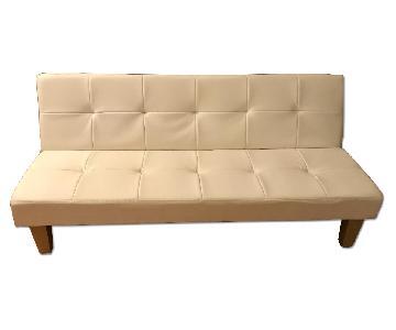 DHP Furniture White Futon