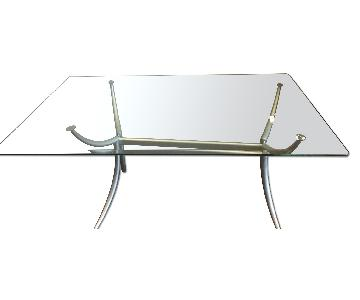 Glass Dinner Table w/ 2 Chairs