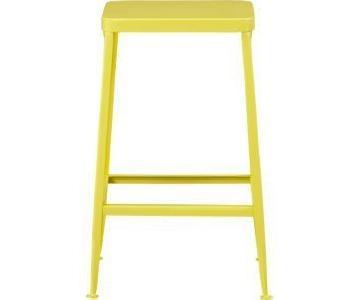 CB2 Yellow Flint Stools