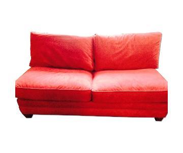 Bloomingdale's Red Sleeper Sofa