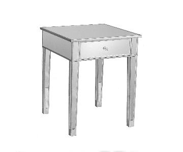 Wayfair Wildon Home Hamilton Mirrored End Table w/ Drawer