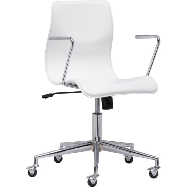 CB2 Bubble White Office Chair