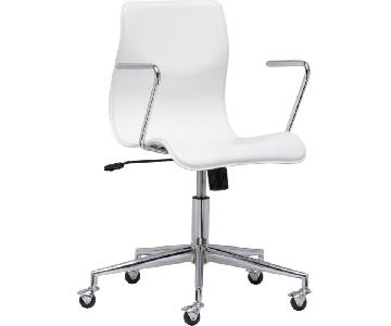 CB2 Bubble White Office Chair
