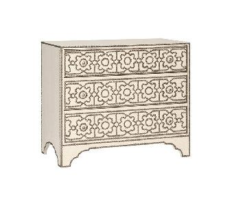 Bernhardt Cabrillo Linen & Nailhead Detail Chest