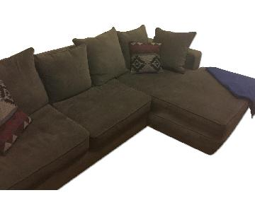 Blue/Gray Chaise Sectional Sofa