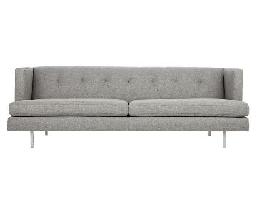 CB2 Avec Gray Tufted Sofa