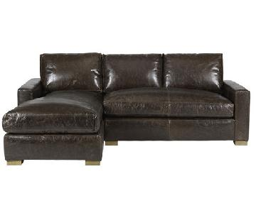 HD Buttercup Claremont RAF Sectional in Brom Walnut