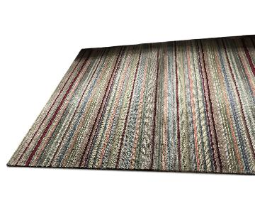 Crate & Barrel Striped Wool Rug