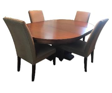 Restoration Hardware Expandable Dining Table w/ 4 Chairs