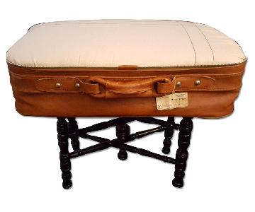 Up-Cycled Vintage Suitcase Ottoman